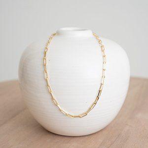 """18K Gold Vermeil Link Necklace (16"""" or 18"""")"""